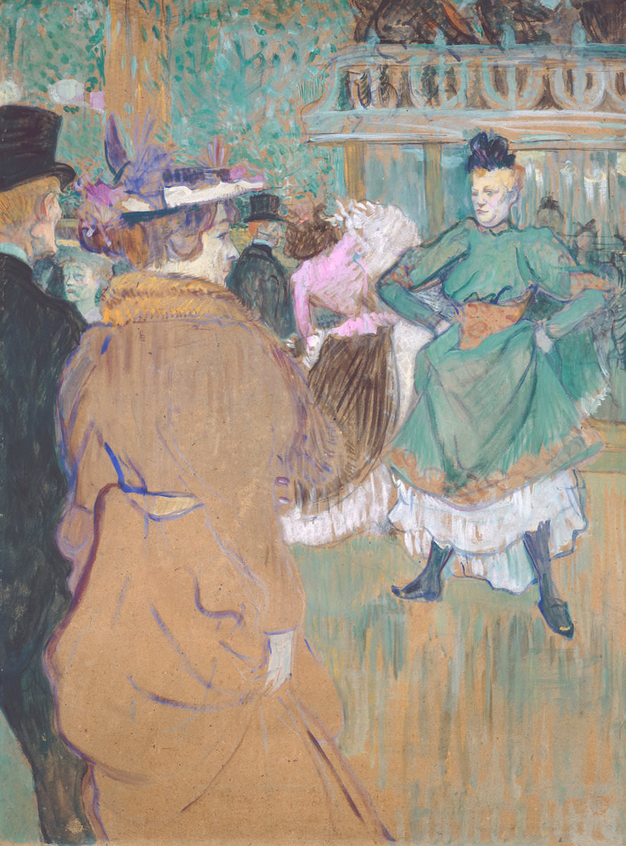 Fig. 11 -Baile en el Moulin Rouge, Henri de Toulouse-Lautrec, 1892. National Gallery of Art, Washington. Colección de Chester Dale.