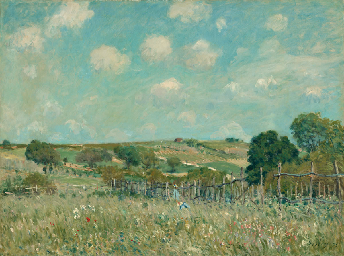 Fig. 6 – The Meadow, Alfred Sisley, 1875. National Gallery of Art, Washington. Ailsa Mellon Bruce Collection.