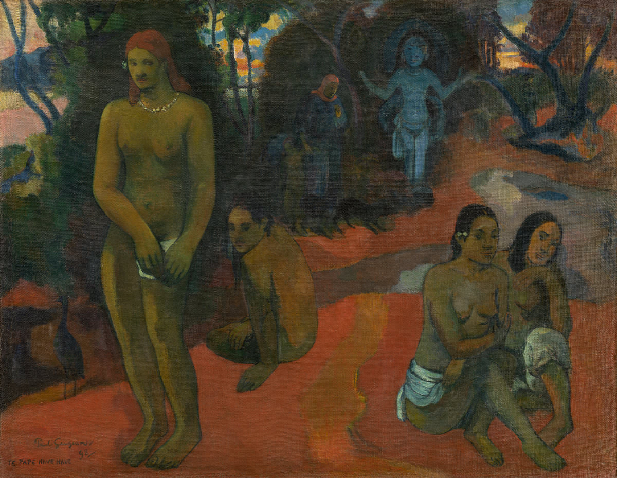 Fig. 5 – Te Pape Nave Nave (Águas Deliciosas), Paul Gauguin, 1898. National Gallery of Art, Washington. Coleção de Mr. and Mrs. Paul Mellon.