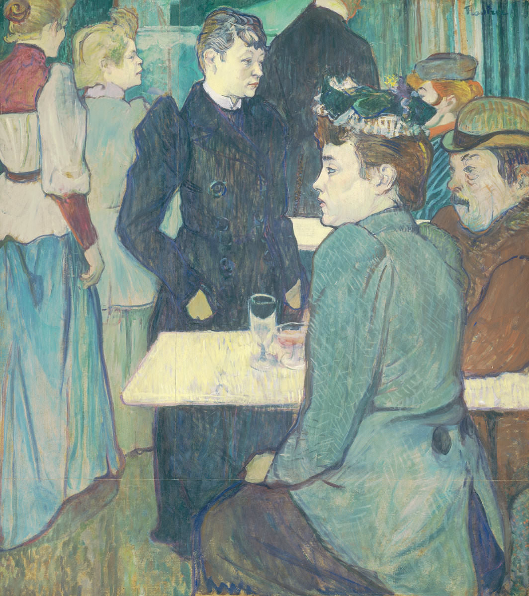 Fig. 10 -A esquina en el Moulin de La Galette, Henri de Toulouse-Lautrec, 1892. National Gallery of Art, Washington. Colección de Chester Dale.