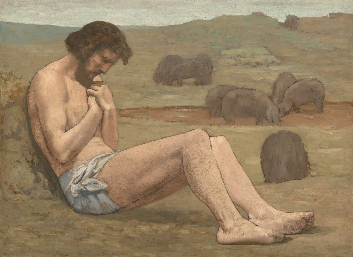 Figue. 12 - Le Fils Prodigue, Pierre Puvis de Chavannes, probablement à partir de 1879, L'huile de lin sur, 106,5 x 146,7 cm. National Gallery of Art, Washington. Chester Dale Collection.