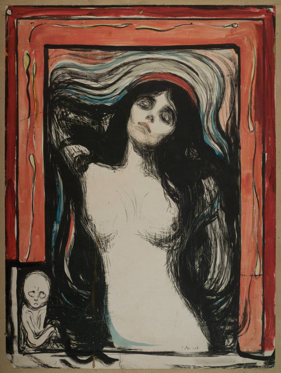 Fig. 5 - Edvard Munch: Virgen, 1895/1902, Litografia, 605 x 442-447 mm. Museo Munch, Oslo. Foto © Museo de Munch.