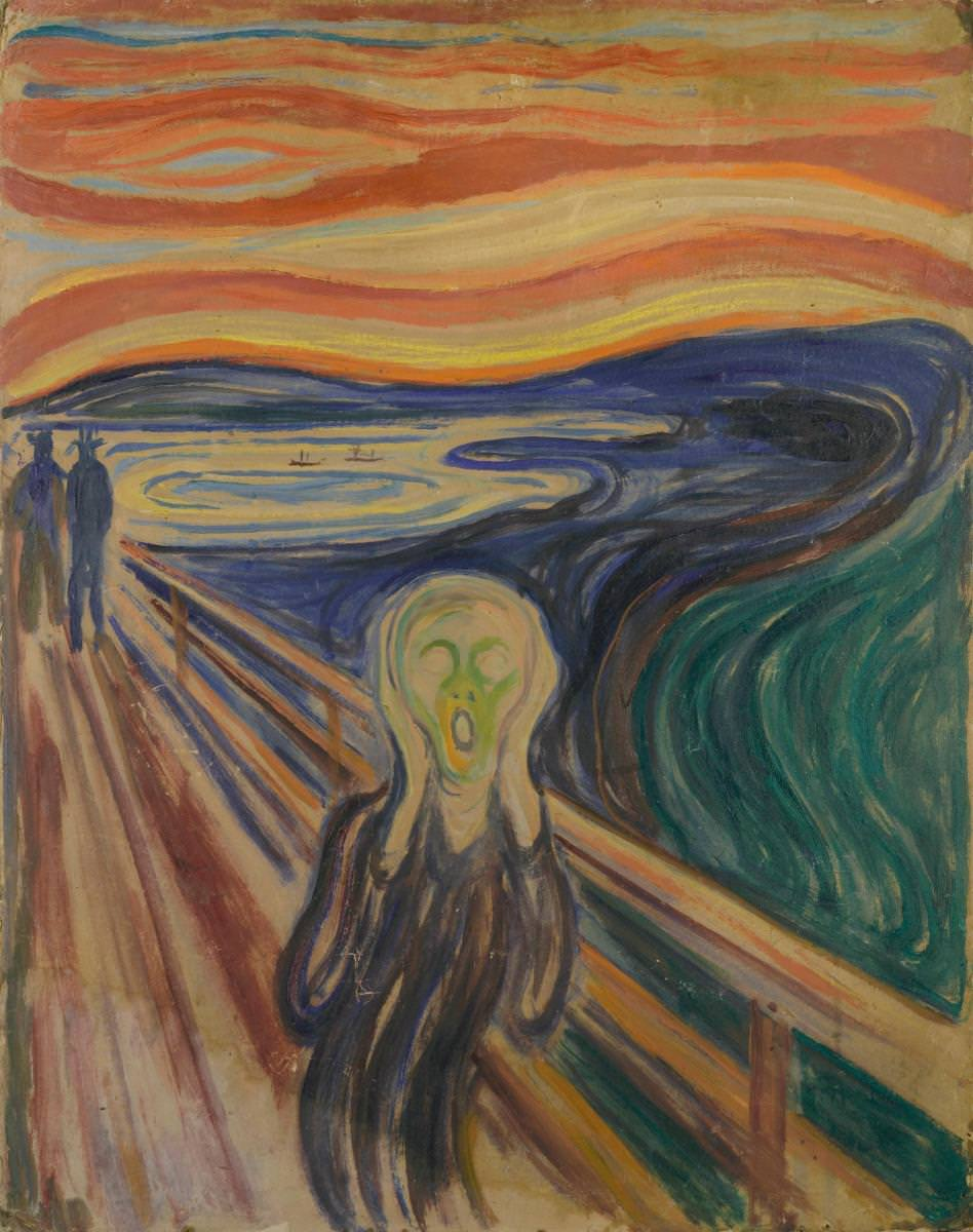 Fig. 4 – Edvard Munch: O Grito, 1910, Têmpera e óleo sobre papel cartão, 83,5 x 66 cm. Munch Museum, Oslo. Photo © Munch Museum.