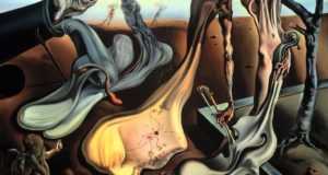 Fig. 12 – Salvador Dali, As longas pernas do pai na Esperança da Noite, 1940, óleo sobre tela, 40,64 cm x 50,8 cm, The Dalí Museum, Presente de A. Reynolds & Eleanor Morse. Copyright: Worldwide rights ©Salvador Dalí. Fundación Gala-Salvador Dalí (Artists Rights Society), 2017 / In the USA ©Salvador Dalí Museum, Inc. St. Petersburg, FL 2017.