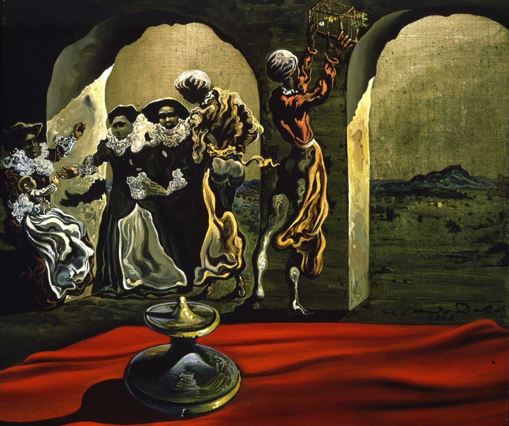 Figue. 13 - Salvador Dali, Le buste de Voltaire Disappearing, 1941, huile sur toile, 45,8 cm x 53,34 cm, Le Musée Dalí, A présent. Reynolds & Eleanor Morse. droits d'auteur: Droits mondiaux © Salvador Dalí. Gala-Salvador Dalí (Artists Rights Society), 2017 / Aux Etats-Unis © Salvador Dalí Museum, Inc. St. Pétersbourg, FL 2017.