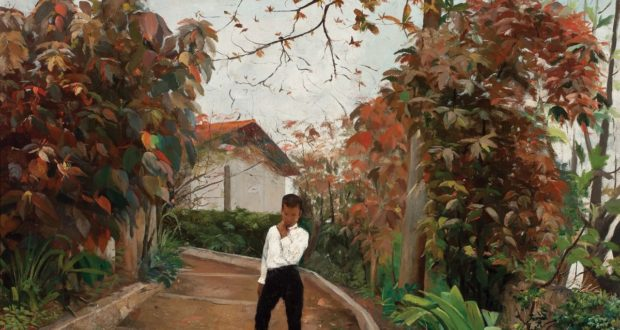 Fig. 3 – Boy on the Slope, Eliseu Visconti, oil on canvas, 51 x 73 cm, 1889. Private Collection.