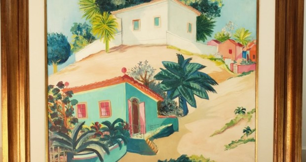"Flávia Cardoso Soares Auctions, Cicero Days (Pernambuco, Brasil, 1907 - France, 2003). ""Casario em Olinda"". Oil on canvas. 60 x 73 cm. Photo: Disclosure."