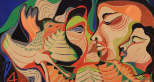 Kiss, 1966, oil on canvas, 100x150cm, Serpa Family Collection.