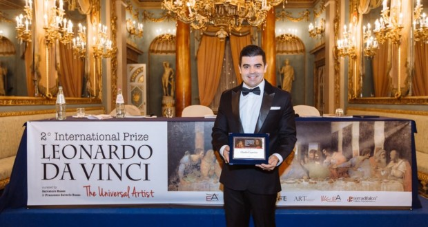Claudio Cupertino - Leonardo Da Vinci World Award - Firenze - Italia. Photo: Disclosure.