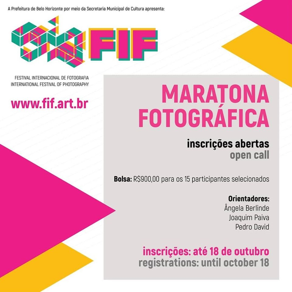 FIF Photography Marathon - Belo Horizonte International Photography Festival 2020. Disclosure.