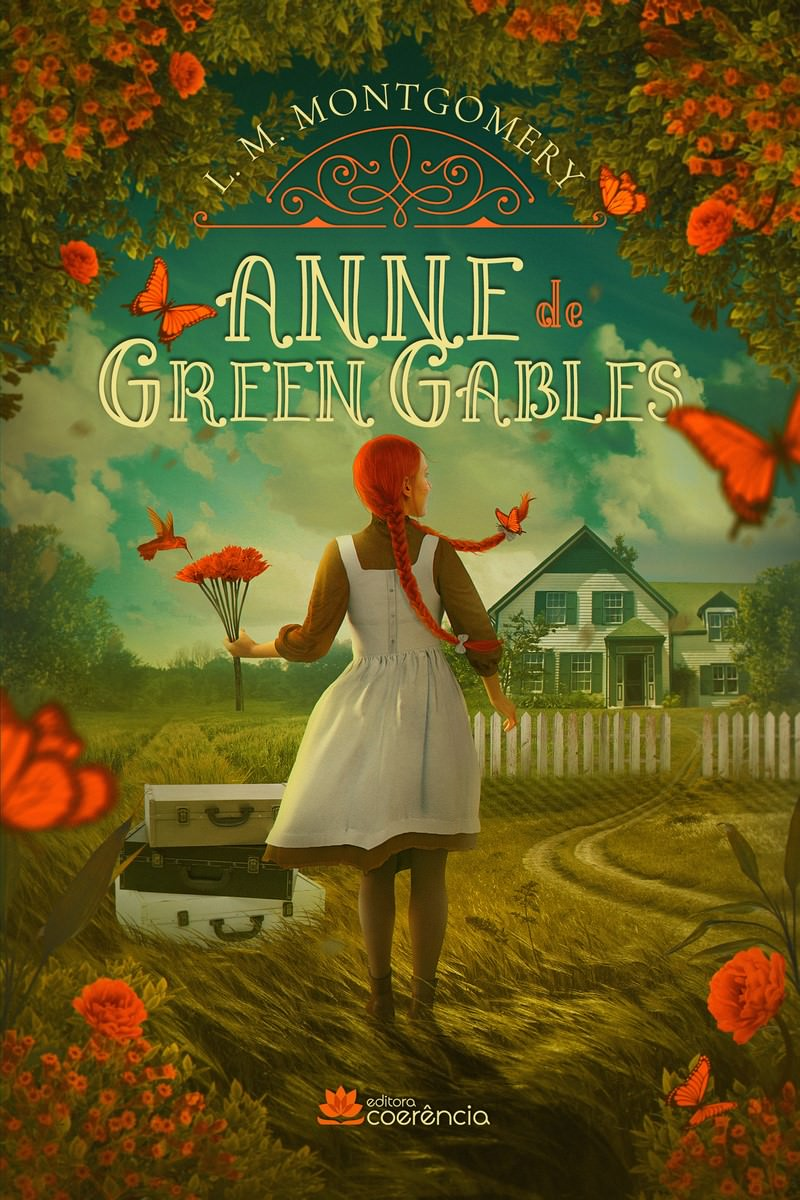Anne of green gables (Book 1) of L. M. Montgomery, cover. Disclosure.