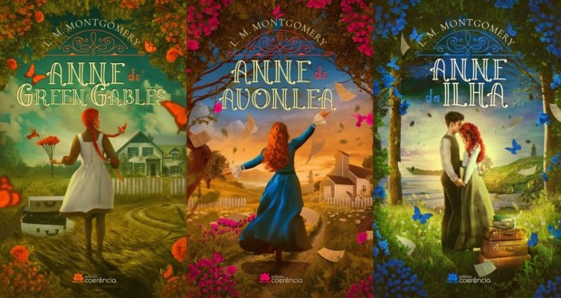 Anne Collection - The 3 first books of L. M. Montgomery, covers. Disclosure.