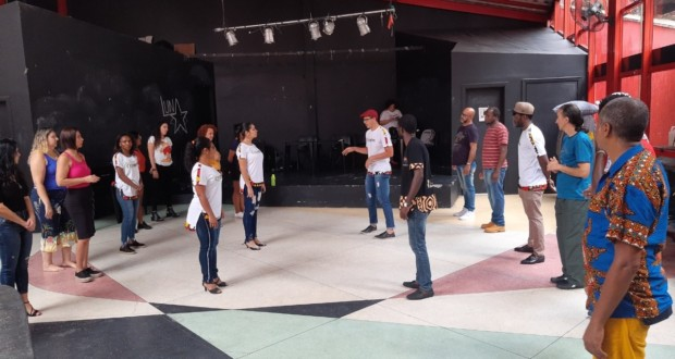 "Project ""Cultural Exchange Brazil & Angola ""by the collective Kizomba Yetu. Photo: Disclosure."