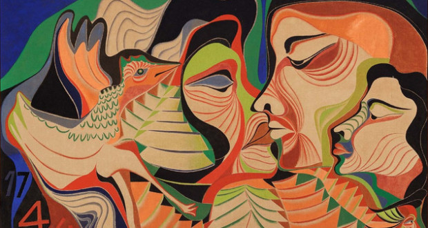 Kiss, 1966, oil on canvas, 100x150cm, Serpa Family Collection. Photo: Jaime Acioli.
