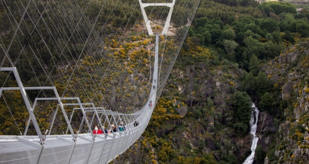 "The ""516 Arouca"", longest pedestrian suspension bridge in the world. Photo: Violeta Santos Moura."