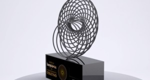 1st Collective Financing Improvement Award Trophy. Exclusive trophy created by artist Pedro Girardello, featured. Photo: Disclosure.